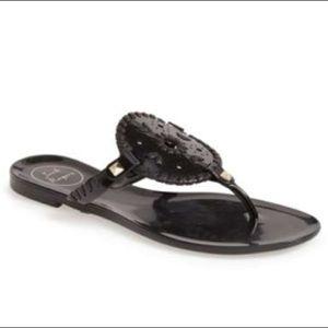 Jack Rogers Georgica Jelly Sandal (Size 7, Black)